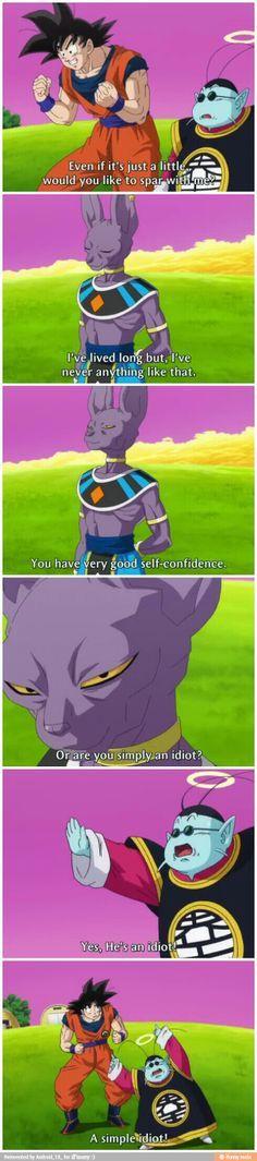 Goku meets Bills.