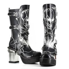 ✿★✝☮ GOTH FASHION LONG BOOTS ✝☯★☮ http://amzn.to/10yKS10