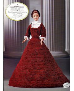 First Ladies of America Collection Lucy Hayes Fashion Doll  Crochet Pattern  Annies Attic 8512
