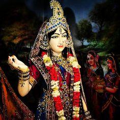 "instakrishna: ""When such a great merciful Swamini, Shri Radhey Rani, is my protector, then why should I worry for anything in the world. - #JadadguruKripaluMaharaj #radharani #radha #radheyradhey..."