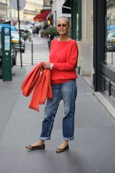 Blown away by this woman's style and her jeans