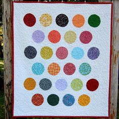 Polka Dots Baby Quilt
