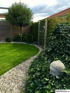 Byggt ett plank och en pergola i ena hörnan av trädgården där häcken inte r… Front House Landscaping, Backyard Pool Landscaping, Pergola Patio, Modern Landscaping, Landscaping Ideas, Pergola Kits, Pergola Ideas, Backyard Ideas, Garden Ideas