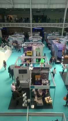 CIPD Learning and Development Show 2016 - the Barefoot Coaching stand from above.