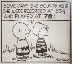 Charlie Brown always had a thing or two to say about vinyl. Created by Charles M. Schulz, the Peanuts story needs no introduction, holding down a spot in newspapers across the world for a good fifty years, amassing over … Vinyl Music, Vinyl Records, 78 Records, Peanuts Cartoon, Peanuts Gang, Snoopy Quotes, Vinyl Junkies, Vinyl Quotes, Charlie Brown And Snoopy