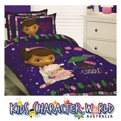 DOC MCSTUFFINS Double Queen Bed Reversible Quilt Set DocMcStuffins Caprice Single Cover 3995 Ebay Kidscharacterworld2013