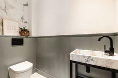 Appartement te koop: Oosterpark 35 A 1092 AL Amsterdam [funda] Restroom Design, Downstairs Toilet, Toilet Design, Interior Architecture, Sweet Home, Sink, New Homes, Kitchen, Amsterdam