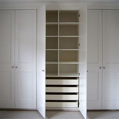 We offer some easy DIY tips on how to construct a basic fitted wardrobe or built-in cupboard using 16mm MDF, and that can be embellished with panels or moulding, routed with a design and then be painted in your choice of colour using water-based acrylic paint.