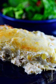 White Chicken Enchiladas Recipe from addapinch.com