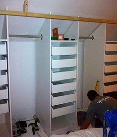 Attic Bedroom Closets, Attic Bedroom Storage, Bungalow Bedroom, Attic Master Bedroom, Attic Bedroom Designs, Attic Wardrobe, Attic Closet, Attic Rooms, Attic Spaces
