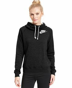 Nike Rally Funnel-Neck Sweatshirt Hoodie - Jackets & Blazers - Women - Macy's