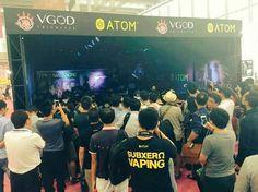 The #VGOD boys killing it at the Shenzhen Vape Expo last week!