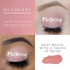 Mulberry ShadowSense is a gorgeous beige pink. ShadowSense is a crème to powder formula that goes on as a crème and dries to powder. It is long lasting and water resistant eyeshadow. Makeup Tips For Blue Eyes, Natural Makeup For Blondes, Senegence Makeup, Senegence Products, Lipsense Eyeshadow, Makeup Collage, Shadow Sense, Makes You Beautiful, Tan Skin