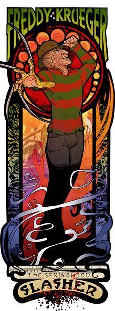 Art Nouveau Freddy Krueger