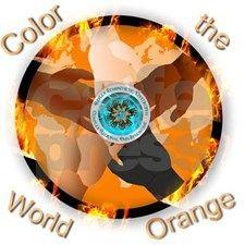 Color the World Orange CRPS Awareness Flaming Glob