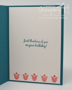 Stampin T! - Blossom Punch Card inside