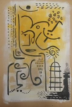 Attributed to Paul Klee Mixed Media : Lot 125E