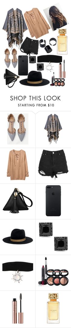 """dont know why but i just felt sophisticated"" by ivy-mary-clark ❤ liked on Polyvore featuring Boohoo, Janessa Leone, Laura Geller and Tory Burch"