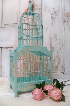 Wood and metal shabby chic birdcage ornate by AnitaSperoDesign, $120.00