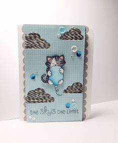 "Newton's Nook ""The Sky's the Limit"" Card by ucaree's crafts, via Flickr - uses Newton's Birthday Bash stamp set by Newton's Nook Designs"