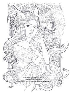 """""""Beautiful Secrets -lineart"""" Adele Lorienne Meadow Haven"""