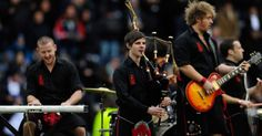 """Rock out to an upbeat cover of Avicii's """"Wake Me Up"""" by the band of bagpipers known as the Red Hot Chilli Pipers."""