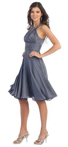 cf439ee233d Prom Halter New Elegant Short Dress 959 16 Charcoal   Be sure to check out  this