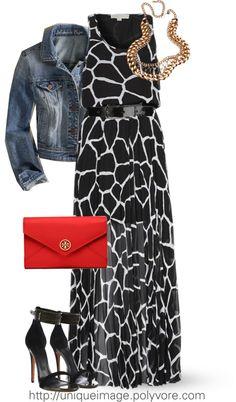 MICHAEL KORS Maxi Dress- personally, minus the jean jacket. Keeping it look classy.