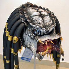 Predator motorcycle helmet. Unique exclusive by Ghostbikernet