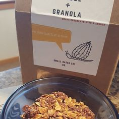 Seriously the best #granola I've ever had!  Great #hazelnut #chocolate presence.  Not to sweet.  A touch #earthy right at the end.  Love it! @mapchocolate #mapchocolateco #hansel&granola #craftchocolate with a #crunch #smallbatch #oats #quinoa #maplesyrup #hazelnoot #chocoholic #chocolatelover #chocolatelovers #chocolateaddict #chocolateaddicts #snack #chocolatey  #vegan #veganchocolate #glutenfree #vegansweets #squirrelstash #nut(kin)ella #nanobatch #victoriacooksey