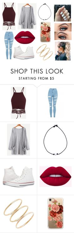 """""""Untitled #182"""" by delaney51504 ❤ liked on Polyvore featuring Topshop, Pearl, Converse and Casetify"""