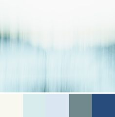 Benjamin Moore Colour Trends 2016 - Colour Palette – Simply White, Morning Sky Blue, White Satin, Blue Echo, and Patriot Blue - Shown with minimalist blue abstract art photograph Coyote in the Woods by Jennifer Squires