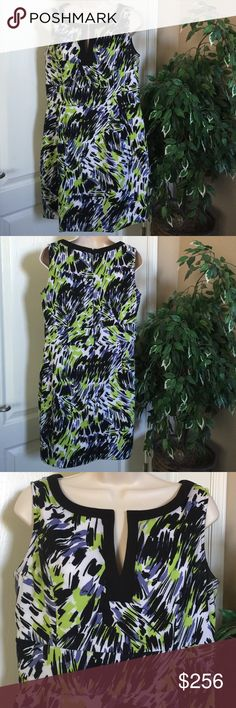 Casual Summer Dress Both unique in color and design, this dress will always please the eye! Any occasion dress up or down, flip-flops or heels, so many uses. From shoulder seem, this dress is 34' long and waist is 34'. Jessica Howard Dresses