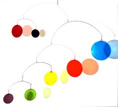 Glass Mobile - 4feet - Primary Colors. $495.00, via Etsy.
