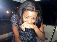 "KSDK news anchor Christina Coleman: ""My face after tear gas. I'm not getting out of this car."""