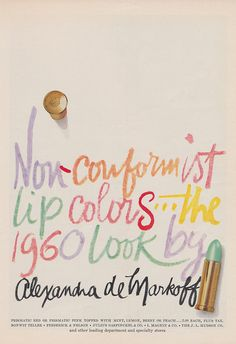 The 1960 Look by Alexandra de Markoff