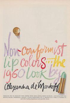 Non-Conformist Colors...The 1960 Look by Alexandra de Markoff