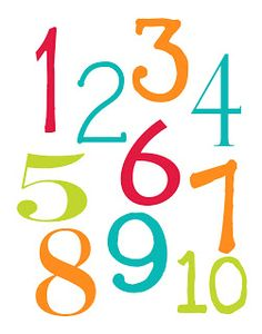LAWTEEDAH:  Number Poster- printable