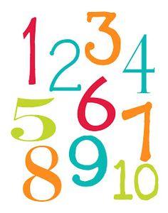 FREE printable number poster (+ alphabet poster) LAWTEEDAH