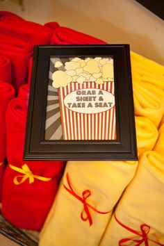 Vintage Movie Night. .GRAB A Sheet. . Take a Sheat!.. great idea for an outdoor movie party!