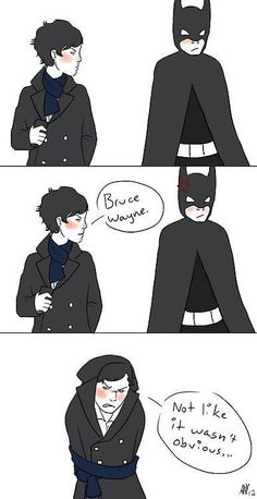 If Sherlock & Batman were standing next to each other at a traffic stop...