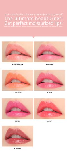 3CE BEBE COLOR LIP BALM   STYLENANDA Lip Swatches