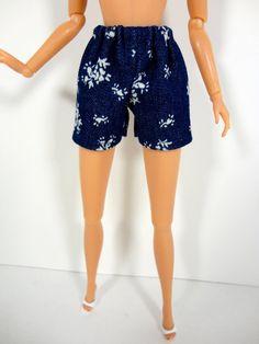 Blue Denim Shorts  Barbie Doll Clothes  16 by ElleLaLaBoutique