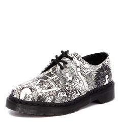 14583003 Print 1461 Shoe Bkw from Dr. Martens