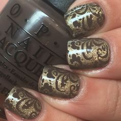 Gold with black stamping