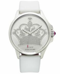 Juicy Couture Women's Jetsetter White Silicone Strap Watch 38mm 1901095 - Juicy Couture - Jewelry & Watches - Macy's