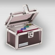 Ideal place for index cards, recipes, or pictures, and great for general storage of valuable personal items.