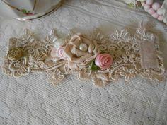 vintage+lace+cuffs   VIctorian vintage lace cuff bracelet with satin ...
