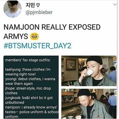 Namjoon as known us long enough to know about how much we died with Jungkook in a police uniform