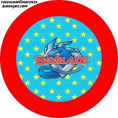 Beyblade - Kit Completo com molduras para convites, rótulos para guloseimas, lembrancinhas e imagens!